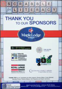 Thank you to Scrabble Sponsors